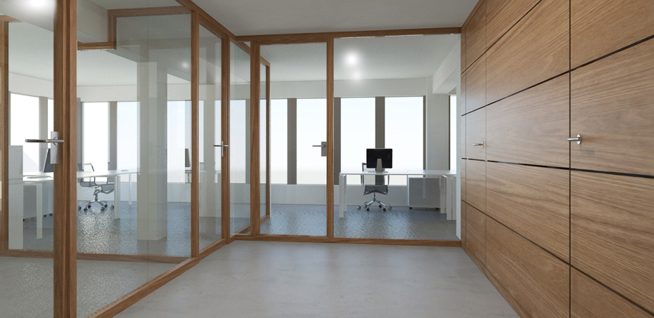 Nodoo Office Partitions. Nodoo wood and glass Italian design partition walls