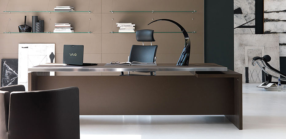 ivm - italian executive office desk athos, l shape