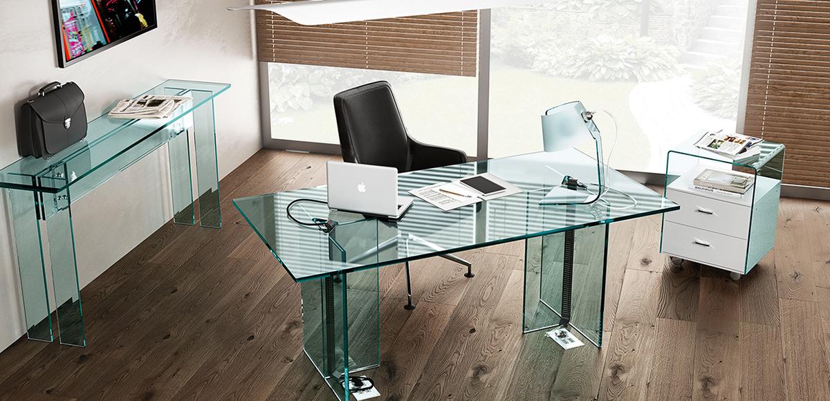 LLT executive glass office desk - Fiam Italia