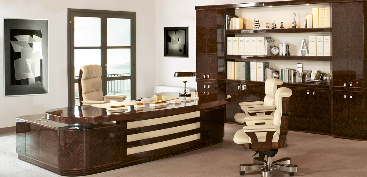 Luxury Wooden Executive Desk Polygon