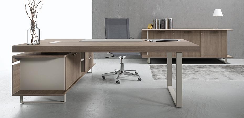 Italian modern desk essence by uffix designer franco driusso for Scrivania design
